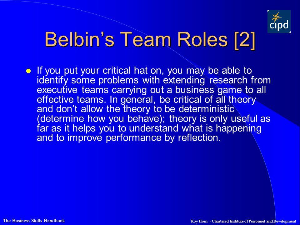 Belbin's Team Roles [2]